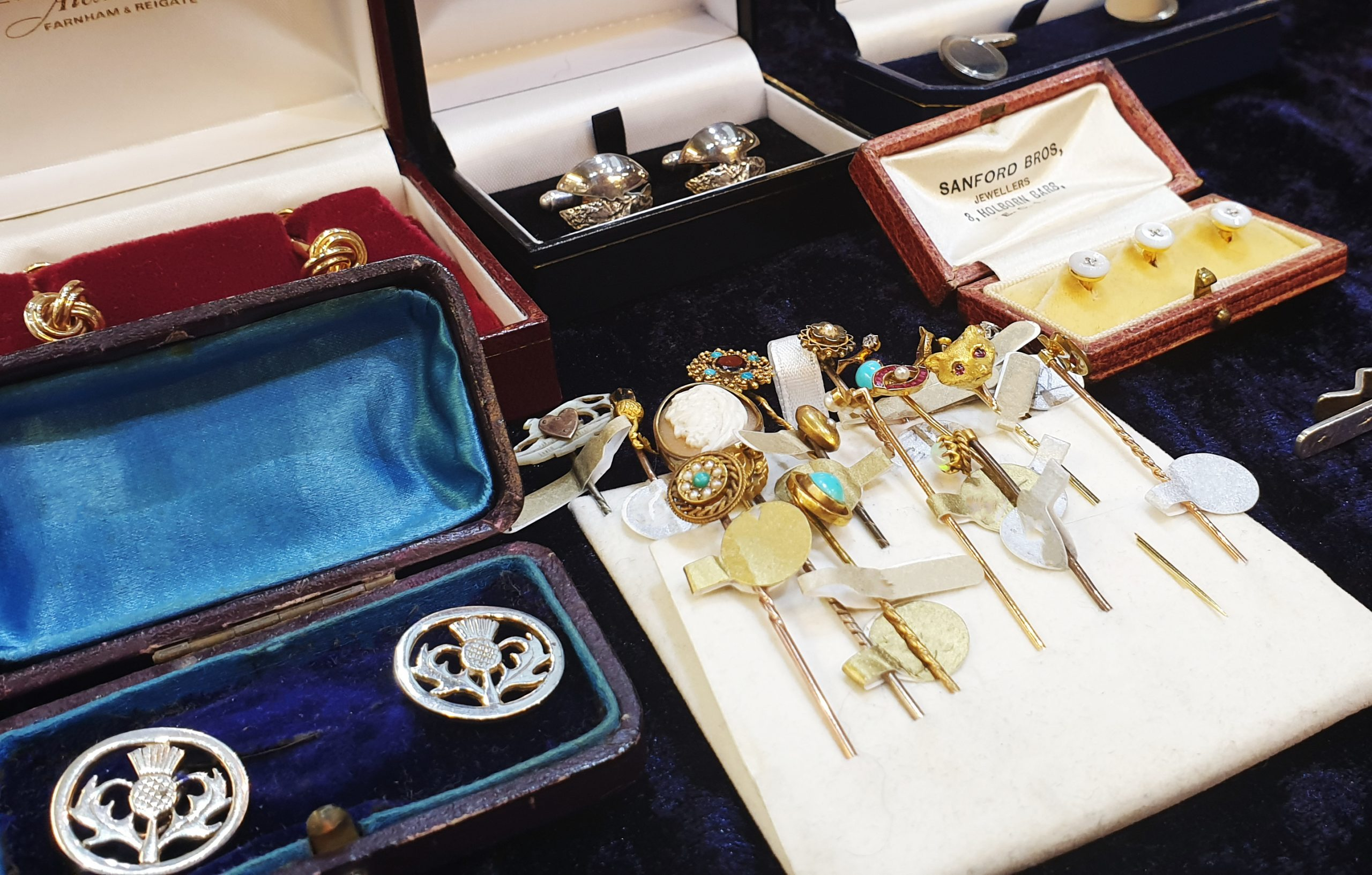 A collection of jewellery supplied by Squirrel's Antiques