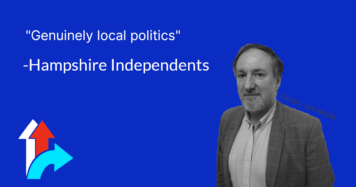 Hampshire Independents Genuinely Local Politics Brand Design by Canary Jam Media